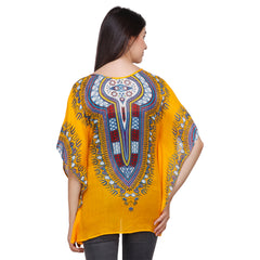 Multi Color Crepe Kaftan - RCTPSS039