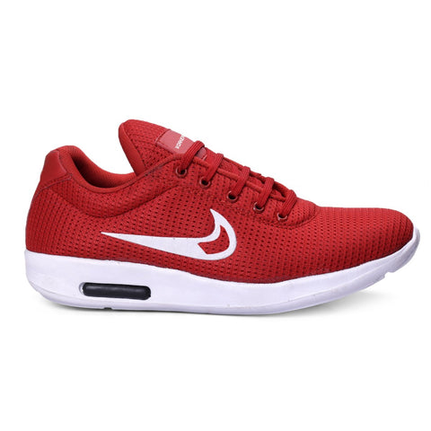 BROOKE Red Color Synthetic Men Sports Shoes - RED-CAPSUL