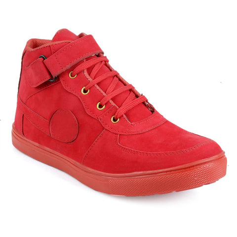 BROOKE Red Color Synthetic Men Boots - RED-SAVRLOAN