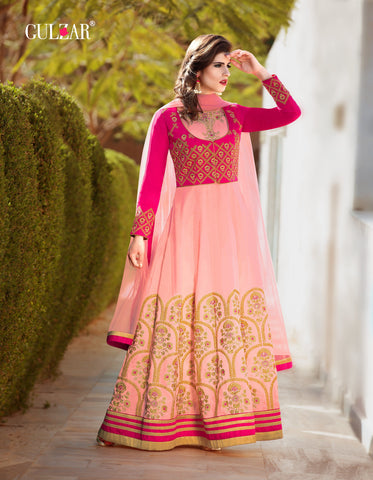 Pink Color Banarasi Silk Gown - RF-GULZAR-2002