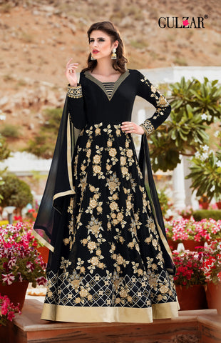 Black Color Faux Anarkali Gown - RF-GULZAR-2006