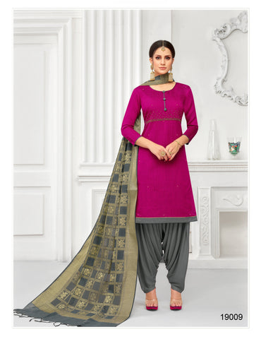 Pink Color South Silk  Dobi jaquard Unstitched  Salwar RFDM-19009