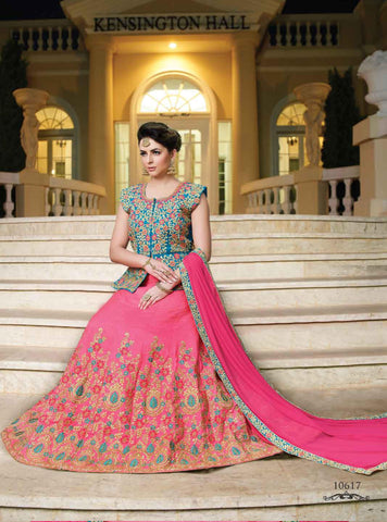 Pink Color Silk Semi Stitched lehanga RFFS-10617