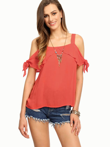 Peach Color Rayon Womens  Top - RFTs-23 2018