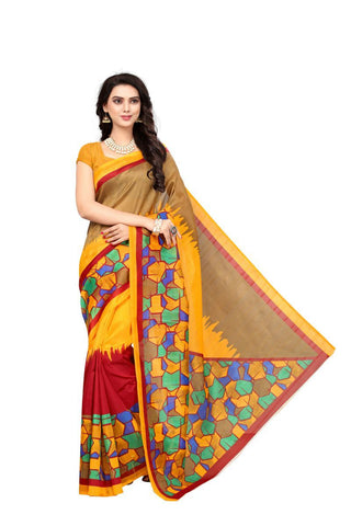 Multi Color Bhagalpuri Sarees - RITI-104