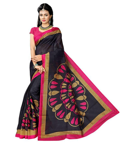 Black Color Bhagalpuri Sarees - RITI-161
