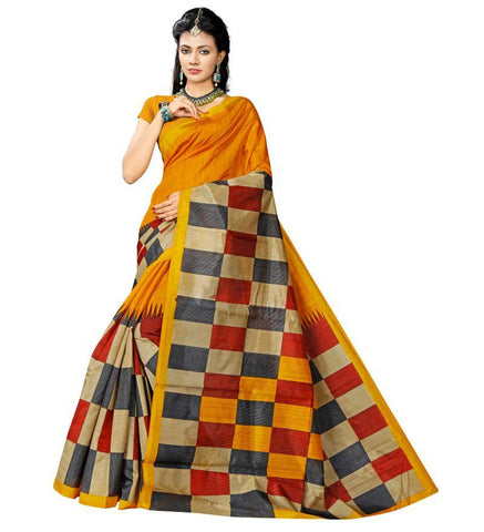 Multi Color Bhagalpuri Sarees - RITI-242