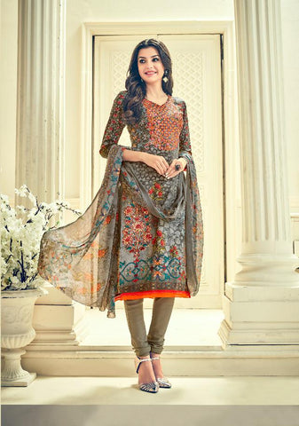 Multi Color Premium Lawn Cotton UnStitched Salwar - RJKFXHUM3003