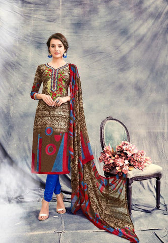 Multi Color Premium Lawn Cotton UnStitched Salwar - RJKFXSAK1002
