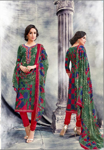 Multi Color Premium Lawn Cotton UnStitched Salwar - RJKFXSAK1003
