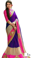 Buy Purple Color Georgette Women's Saree