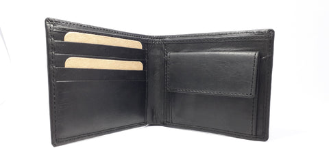 Black Color Leather Men Wallet  - RLF1812M02
