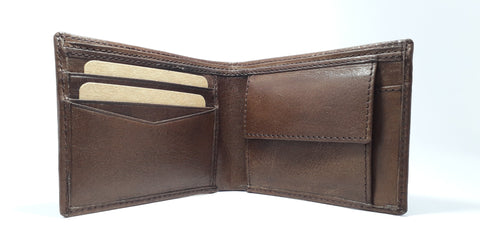 Black and Brown Color Leather Men Wallet  - RLF1812M03