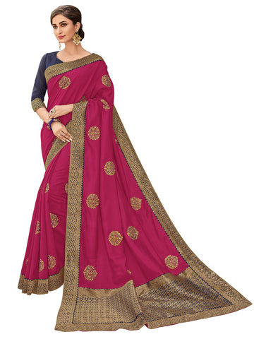 Magenta Color Two Tone Silk Saree - RM61211