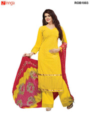 Yellow Color 60 grm Georgette Semistitched Salwar