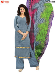 Gray Color 60 grm Georgette Semistitched Salwar