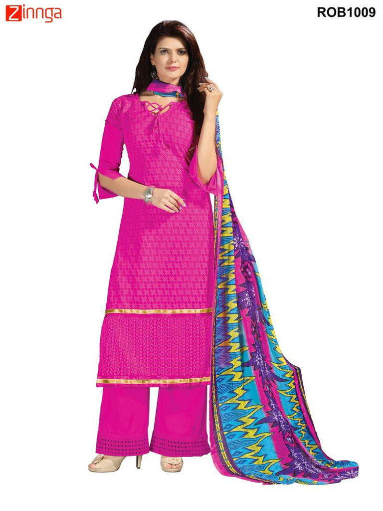 Pink  Color 60 grm Georgette Semistitched Salwar