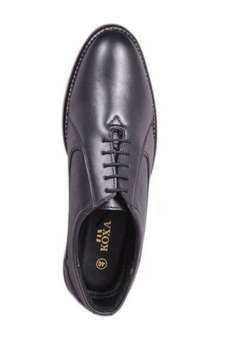 Black Color Leather Tpr Men's Formal Shoes - RP-01-black