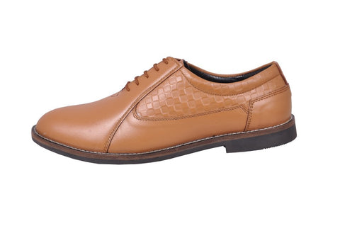 Tan Color Leather Tpr Men's Formal Shoes - RP-01-tan