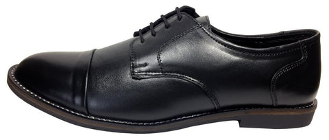 Black Color Leather Tpr Men's Formal Shoes - RP-02-black