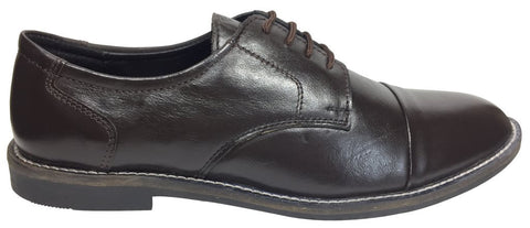 Brown Color Leather Tpr Men's Formal Shoes - RP-02-brown