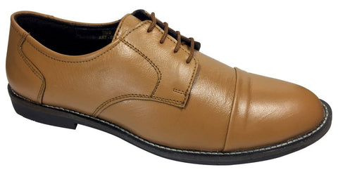 Tan Color Leather Tpr Men's Formal Shoes - RP-02-tan