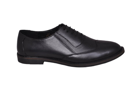 Black Color Leather Tpr Men's Formal Shoes - RP-04-black