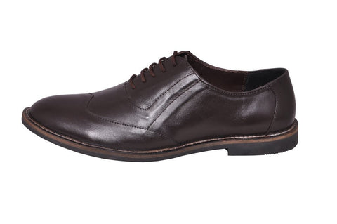Brown Color Leather Tpr Men's Formal Shoes - RP-04-brown