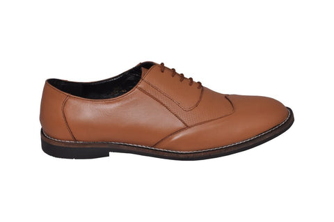 Tan Color Leather Tpr Men's Formal Shoes - RP-04-tan