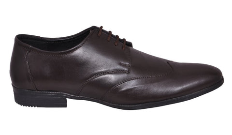 Brown Color Leather Tpr Men's Formal Shoes - RP-05-brown