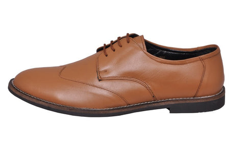 Tan Color Leather Tpr Men's Formal Shoes - RP-05-tan