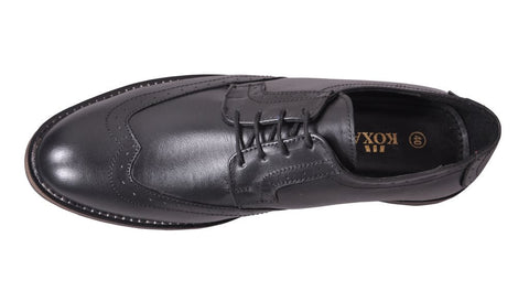 Black Color Leather Tpr Men's Formal Shoes - RP-07-black