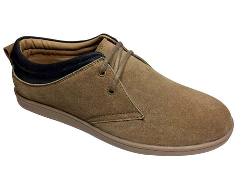 Beige Color Leather Tpr Men's Casual Shoes - RP-1809-beige