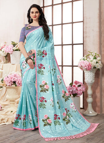 Multi Color Kanjeevaram Silk Saree - RS1435