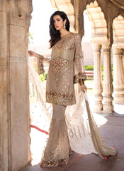 Buy Cream Color Georgette Women's Semi Stitched Salwar Suit