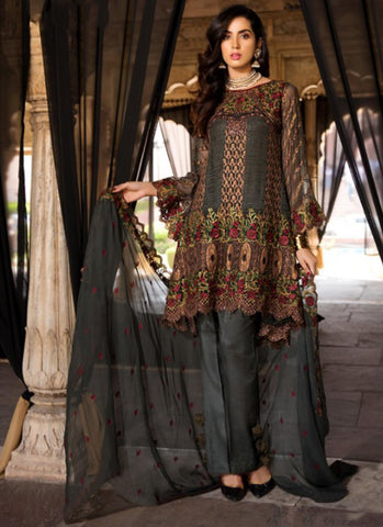 Brown Color Georgette Women's Semi Stitched Salwar Suit - RS1834