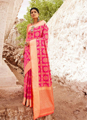 Buy Off White Color Indian Patola Silk Women's Saree