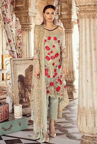 Beige Color Faux Georgette Women's Un-Stitched Salwar Suit - RS2352