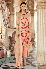 Buy Peach Color Faux Georgette Women's Un-Stitched Salwar Suit
