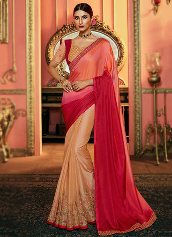 Rani Color Satin Silk Women's Saree - RS2524
