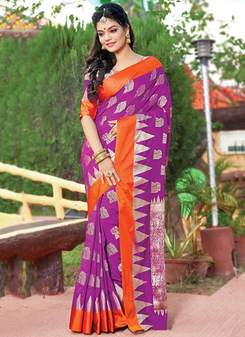 Rani Color Silk Women's Saree - RS2572
