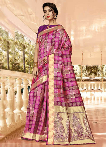 Pink Color Silk Women's Saree - RS2578