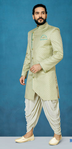 Pista Color Sunlight Silk Men's Indo Western Kurta Pyjama - RT-1109