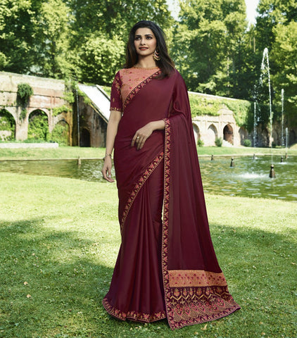 Maroon Color Sana Silk Saree RT-1996