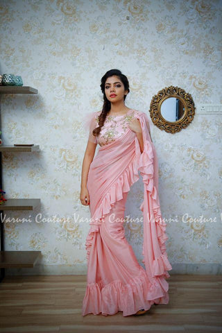 Pink Color Georgette Saree RT-322