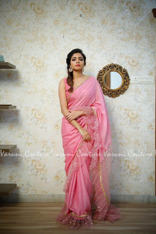 Pink Color Georgette Saree RT-324