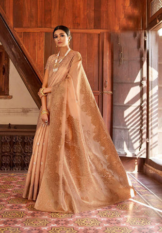 Beige Color Kansula Silk Women's Saree - RT-55200