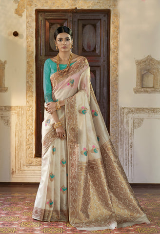 Beige Color Kansula Silk Women's Saree - RT-71147
