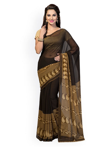 Brown Color Georgette Saree - RT-GRG504