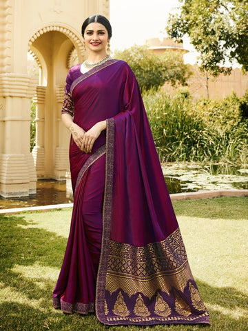 Purple Color RANGOLI SILK Saree - RT-P34